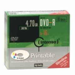 Intenso DVD-R 4,7GB 10er Slimcase Printable Promopack(10Pezzo)