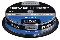 Intenso DVD+R 8,5GB 8x Double Layer Printable 10er Spindel Promopack(10Pezzo)