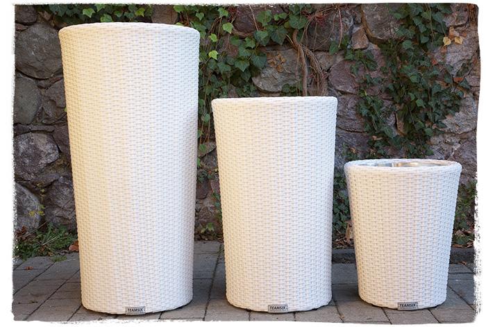 Teamsix vaso fiori rotondo rattan teamsix mobili rattan - Ikea vasi da giardino ...